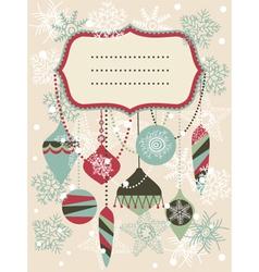 Vintage christmas invitation vector image vector image