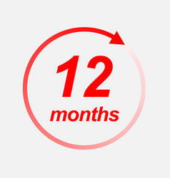 12 months icon vector
