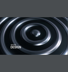 abstract background with silver concentric rings vector image