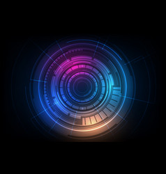 Abstract circle sci fi futuristic technology vector