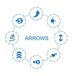 Arrows icons vector