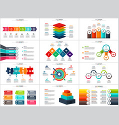 Arrows infographic diagrams and charts vector