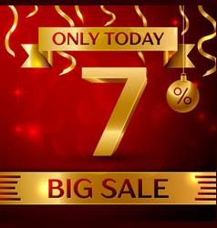 Big sale seven percent for discount vector