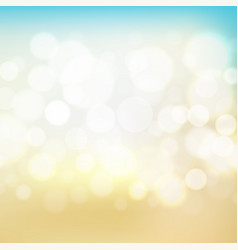 Blue blur background with bokeh vector
