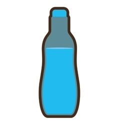 bottle water drink icon design vector image