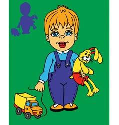 boy and bunny vector image