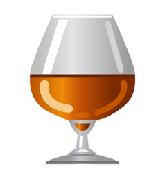 brandy glass vector image