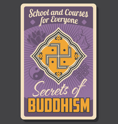 buddhist learning center buddhism religion school vector image