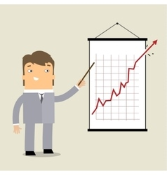 Business man at chart vector image