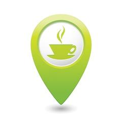 Cafe icon green map pointer vector