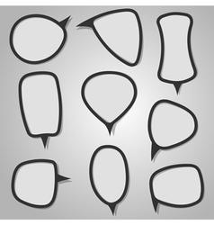 Calligraphic Speech Bubbles vector image