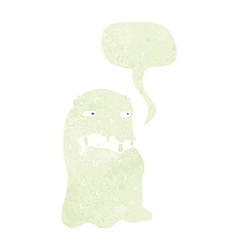 cartoon gross ghost with speech bubble vector image