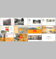 Clean and minimal presentation templates vector