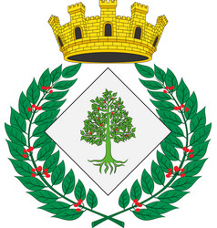 Coat of arms of lloret de mar in spain vector