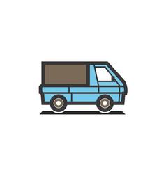 creative blue truck logo vector image