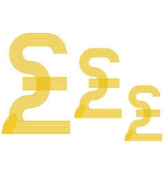 currency Pound sterling sign vector image