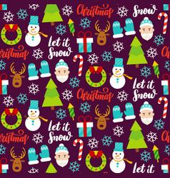 Dark christmas seamless pattern vector