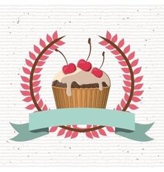 Delicious cupcake design vector