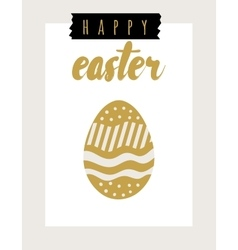 Easter card festive background element vector image