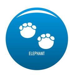 elephant step icon blue vector image