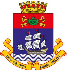 Emblem quebec province canada vector