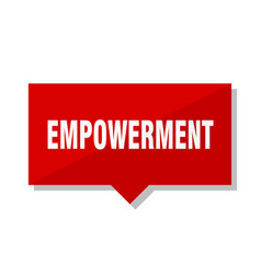 Empowerment red tag vector