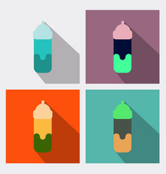 feeding bottle icon flat of feeding bottle icon vector image