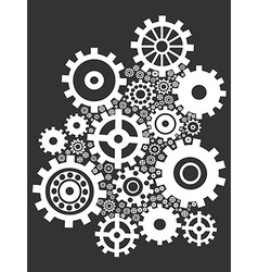 Gears background vector