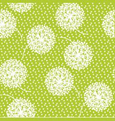 geometric style dandelion flowers vector image