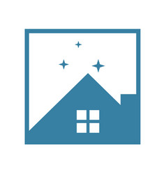 homestay night property vector image