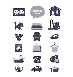 Household icons set vector