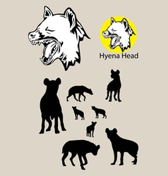 Hyena Silhouette and Logo vector image