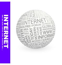 INTERNET vector image