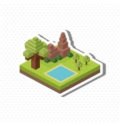 Isometric design Nature icon eco concept vector image