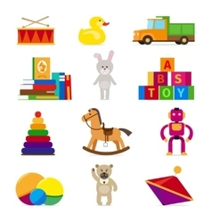 Kids toys set vector