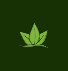 leaf growth naturally creative logo vector image
