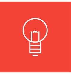 Lightbulb line icon vector image