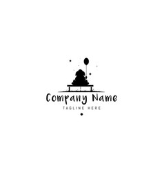 Logo on which an abstract image a cute vector