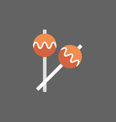 maracas icon drums music instruments vector image