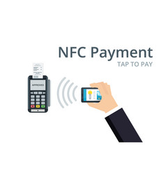 mobile payment and nfc technology concept pos vector image