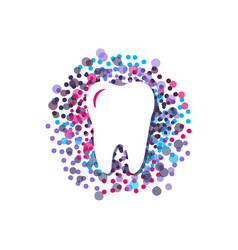 modern style with vibrant color dental care logo vector image