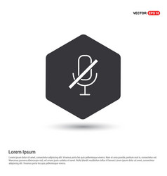 Mute microphone icon vector