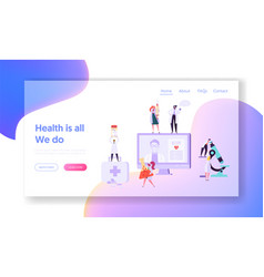 online medicical health care concept landing page vector image