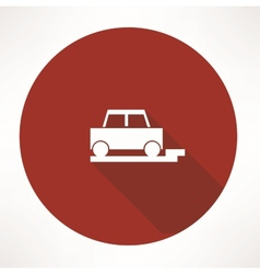 Parked car icon vector
