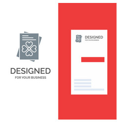 Passport world ireland grey logo design and vector