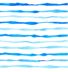 pattern with watercolor blue lines vector image