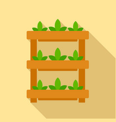 plant pot stand icon flat style vector image