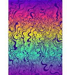psychedelic waves purple color gradient rainbow vector image