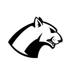 puma head sign design element for sport team logo vector image