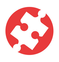 puzzle pieces isolated icon vector image